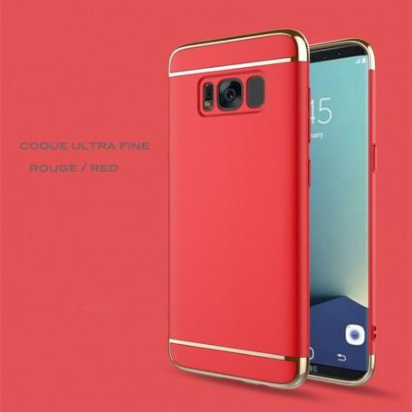 Samsung Galaxy S8 coque Ultra fine 3 en 1 en PC dur Rouge