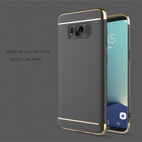 Samsung Galaxy S8 coque Ultra fine 3 en 1 en PC dur Noir Gold