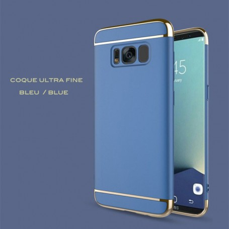 Samsung Galaxy S8 coque Ultra fine 3 en 1 en PC dur Bleu Foncé