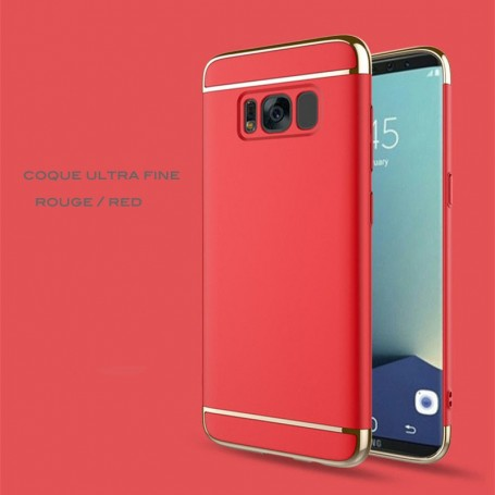Samsung Galaxy S8 Plus coque Ultra fine 3 en 1 en PC dur Rouge