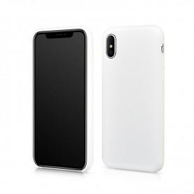 Coque blanche en silicone pour iPhone X