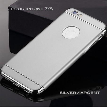 iPhone 7 & 8 coque Ultra fine 3 en 1 en PC dur Silver