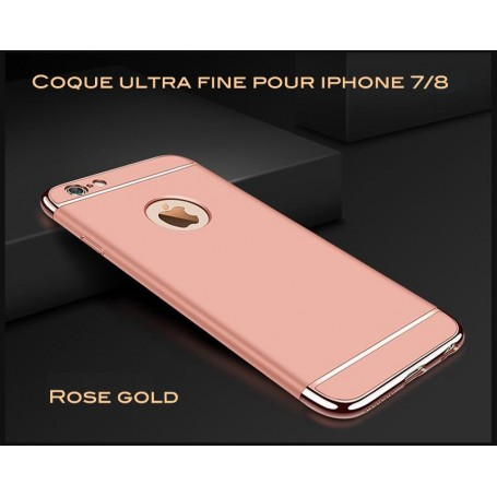 iPhone 7 & 8 coque Ultra fine 3 en 1 en PC dur Rose Gold