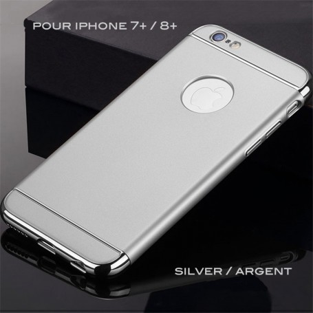 Coque Ultra fine 3 en 1 en PC dur Silver iPhone 7 Plus/8 Plus