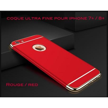 iPhone 7 Plus & 8 Plus coque Ultra fine 3 en 1 en PC dur Rouge