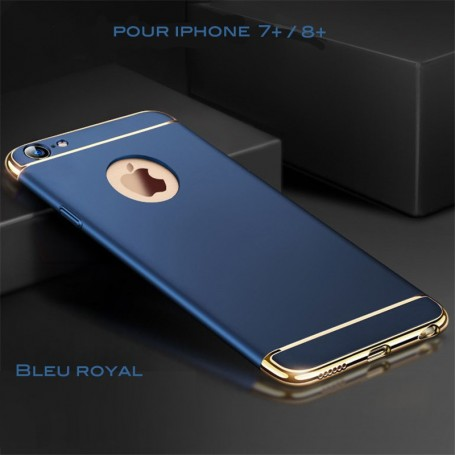 Coque Ultra fine 3 en 1 en PC dur Bleu Royal iPhone 7 Plus/8 Plus