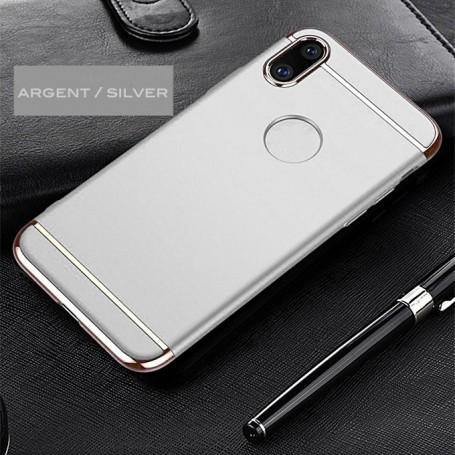 iPhone X & XS coque Ultra fine 3 en 1 en PC dur Silver