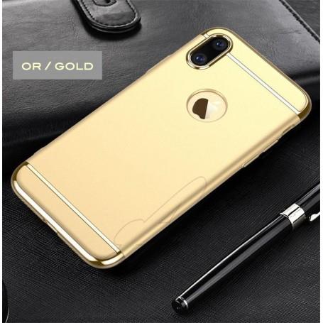 iPhone X & XS coque Ultra fine 3 en 1 en PC dur Gold