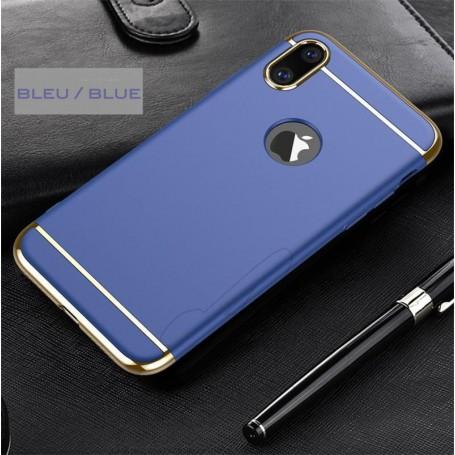 iPhone X & XS coque Ultra fine 3 en 1 en PC dur Bleu Foncé