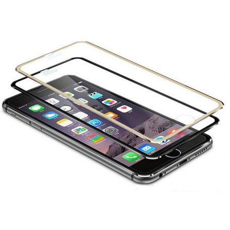 Verre trempé contour en titane Gold haute dureté pour iPhone 6 iPhone 6s
