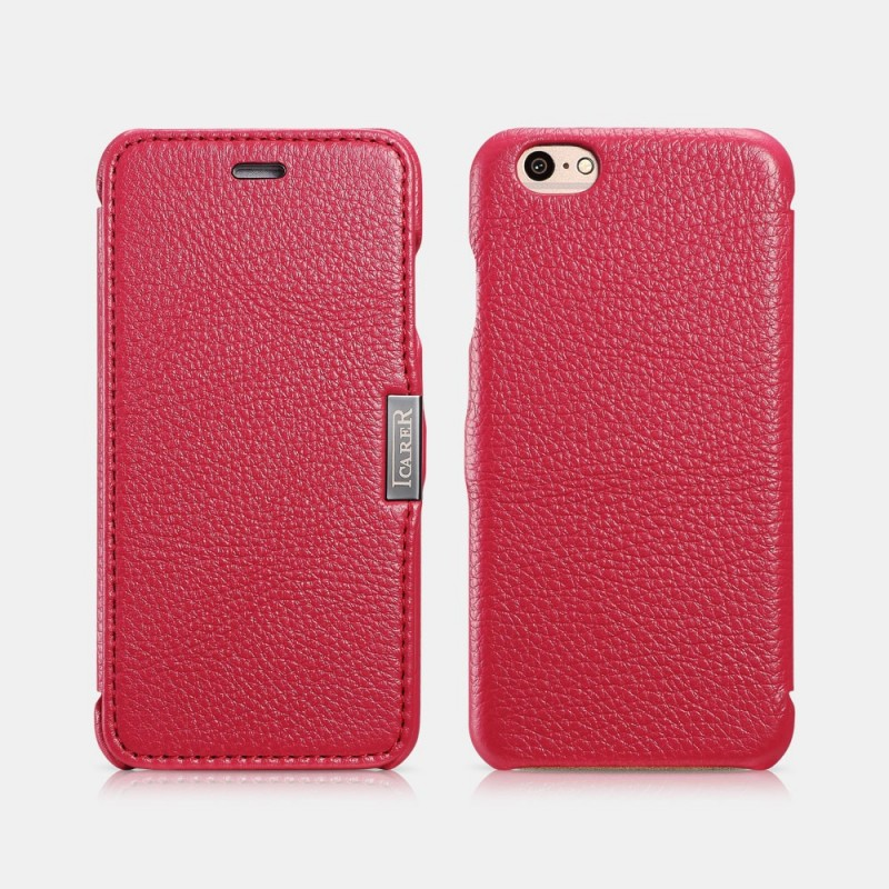 Etui icarer iPhone 6/6s Rose Litchi pattern