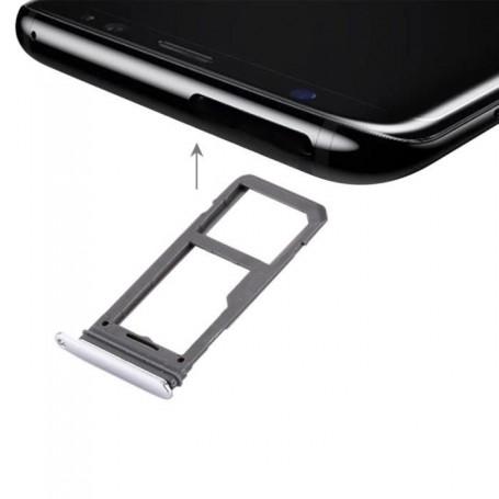 Tiroir de Carte Sim Samsung Galaxy S8 G950F  / S8 Plus G955F Silver