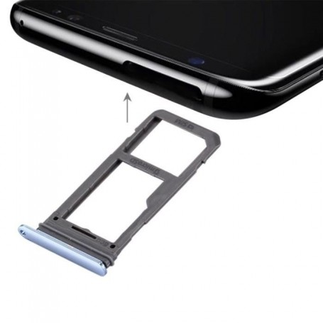 Tiroir de Carte Sim Samsung Galaxy S8 G950F  / S8 Plus G955F Bleu