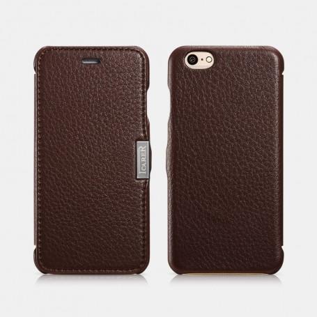 Etui icarer iPhone 6/6s café Litchi pattern