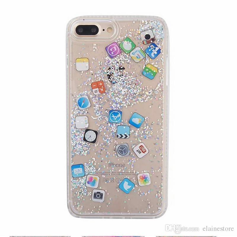 coque iphone 6 sable mouvant paillettes