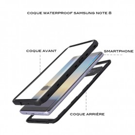 Coque waterproof Note 8
