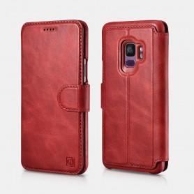 Samsung Galaxy S9 Etui Folio 2en1 Détachable Série Distinguished en Cuir de Luxe Rouge Distinguished en Cuir de Luxe Rouge