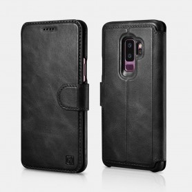 Samsung Galaxy S9 Plus Etui Folio 2en1 Détachable Série Distinguished en Cuir de Luxe Noir