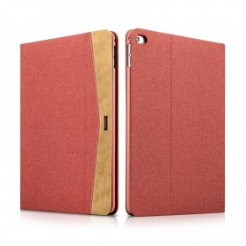 Etui Folio pour iPad Air 2 en tissu et cuir série Erudition Rouge