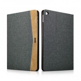 Etui Folio pour iPad Air 2 en tissu et cuir série Erudition Noir