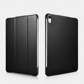 Etui Folio pour iPad Pro 12.9 pouces 2018  en Cuir microfibres série Slim Noir