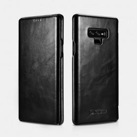 Samsung Galaxy Note 9 Etui en cuir de Luxe Curved Edge Série Vintage Noir